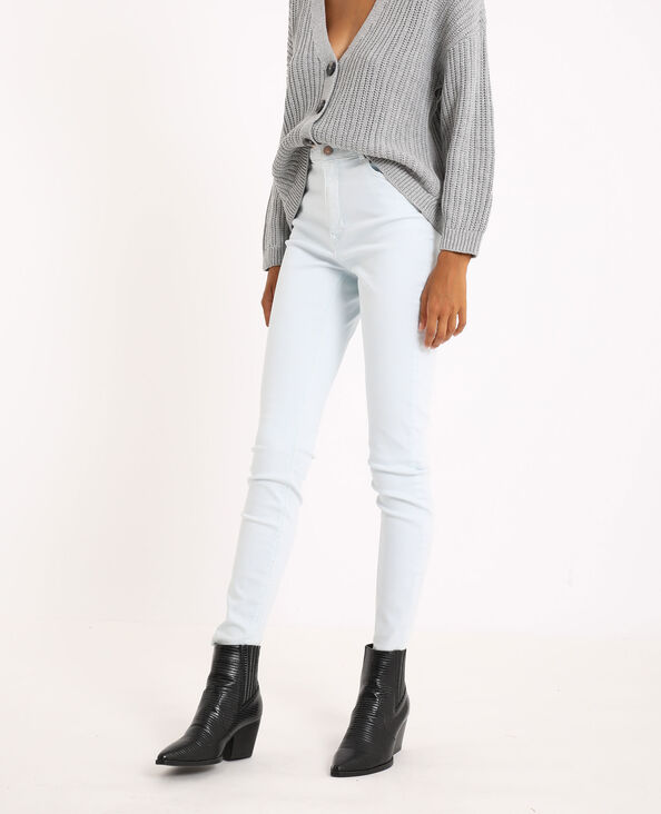 Jeans skinny high waist blu cielo