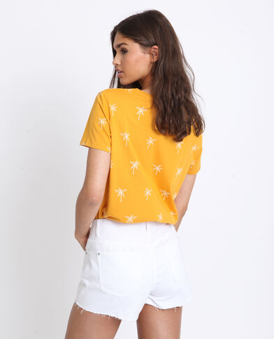 T-shirt con stampa bruno