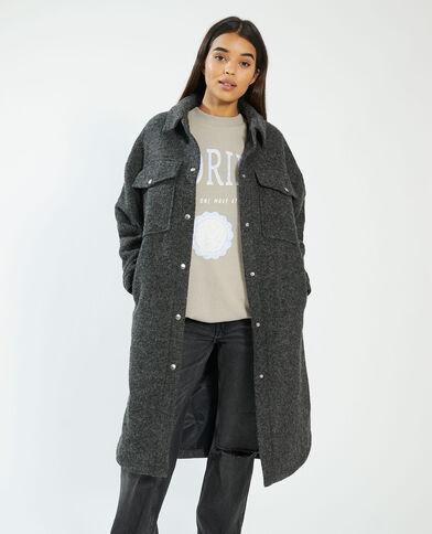 Giacca camicia lunga oversize grigio - Pimkie