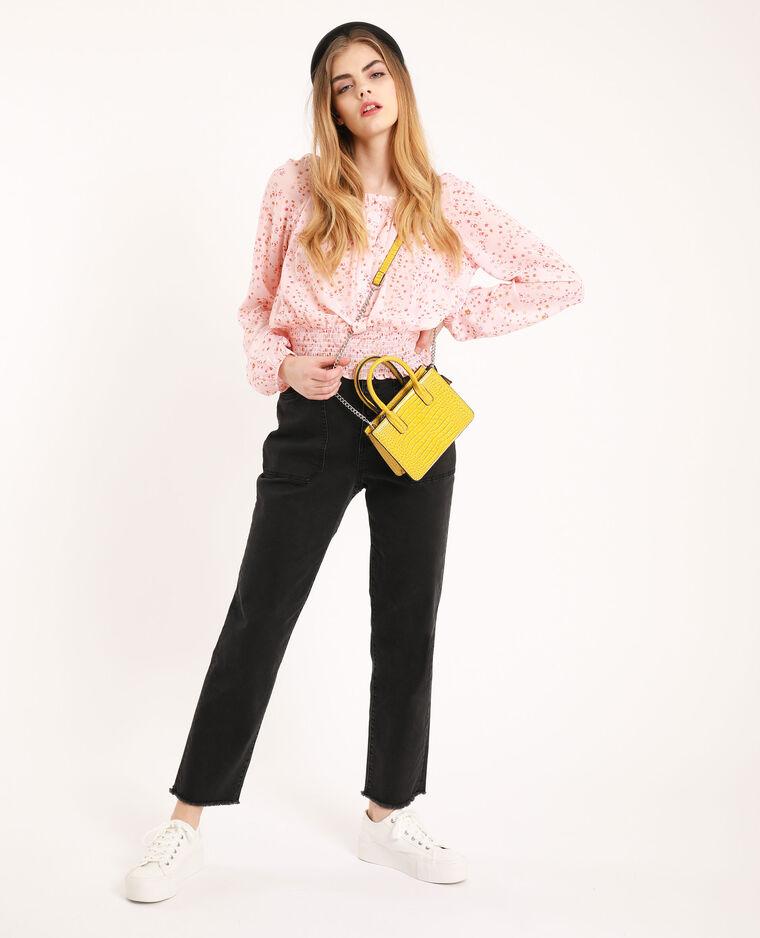 Blusa morbida a fiori rosa - Pimkie