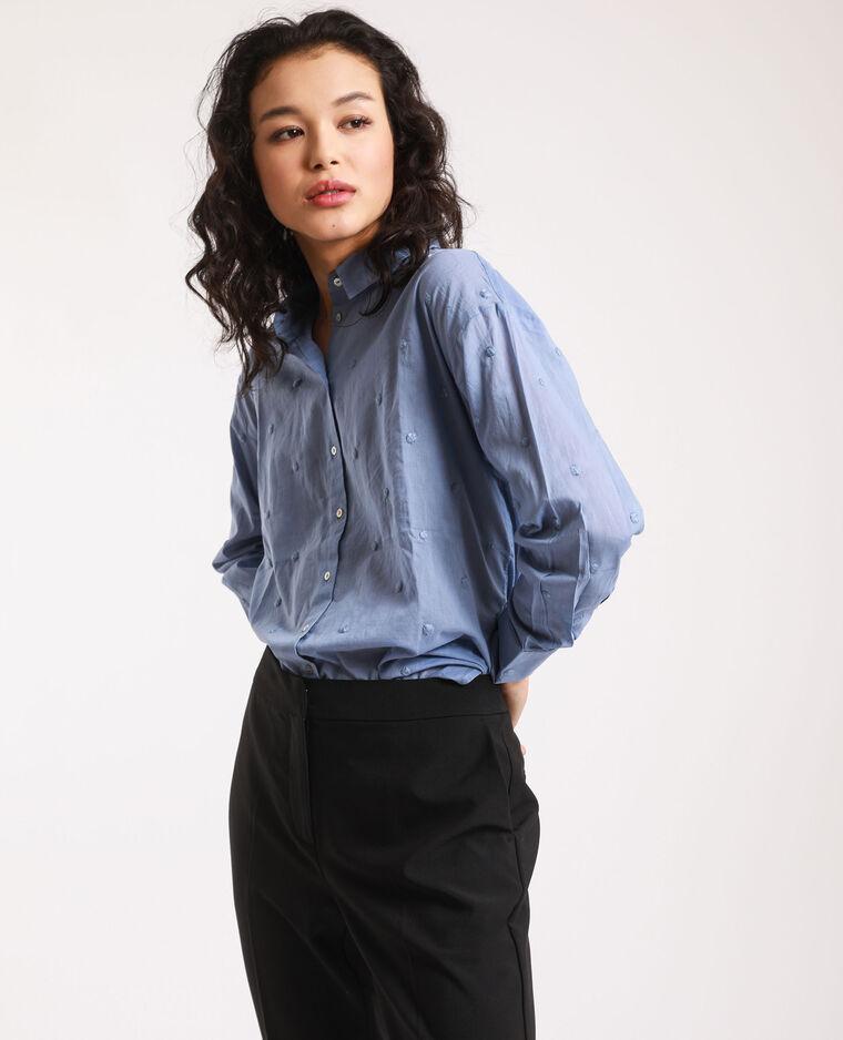 Camicia con motivi blu cielo
