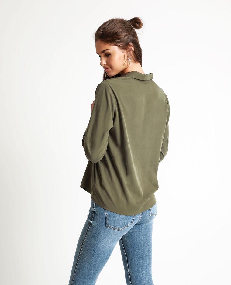 Camicia squadrata verde