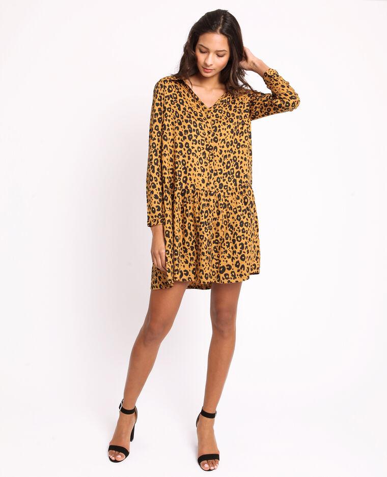 Abito leopardato bruno