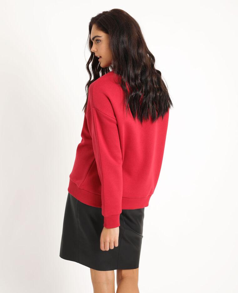 Felpa stampata oversize rosso