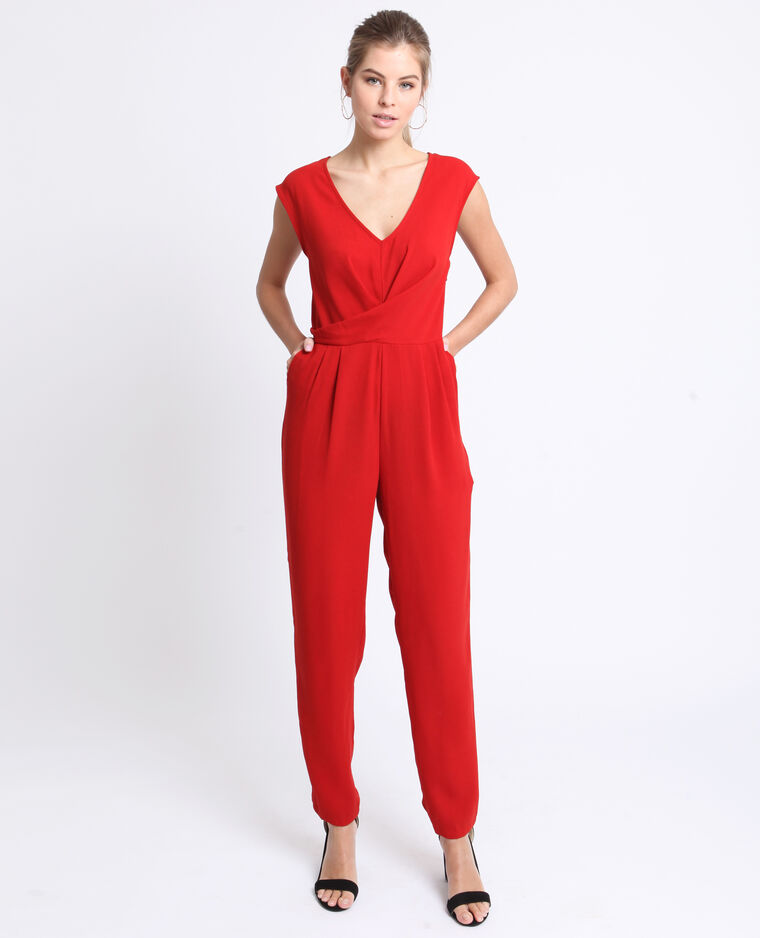 Abito pantalone morbido rosso