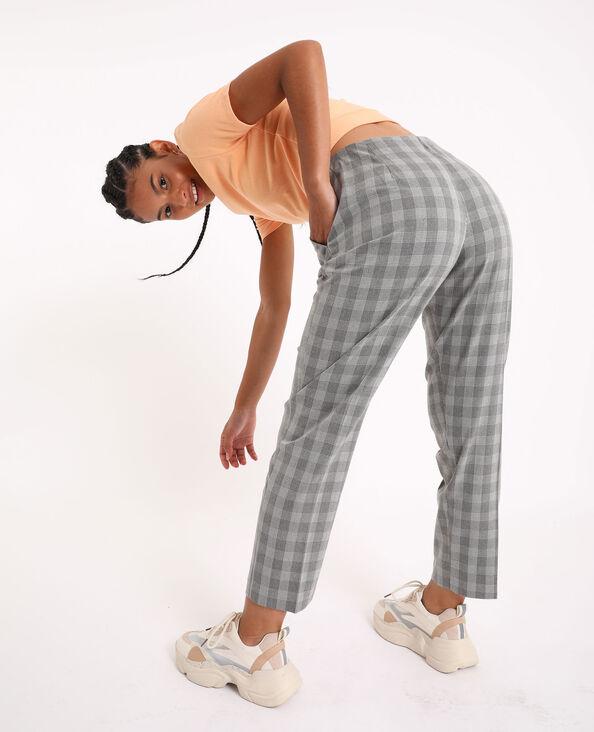 Pantalone a quadri grigio