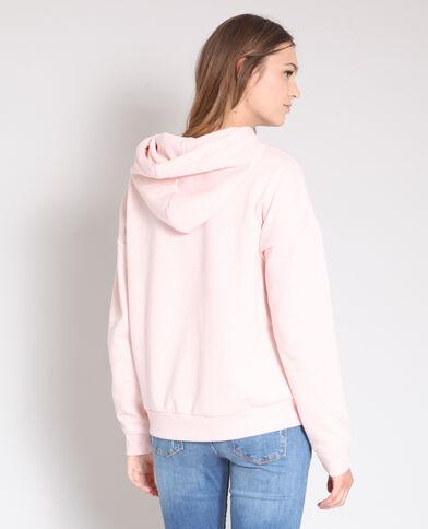 Felpa con cappuccio rosa