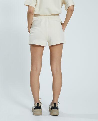 Short in tessuto felpato bianco - Pimkie