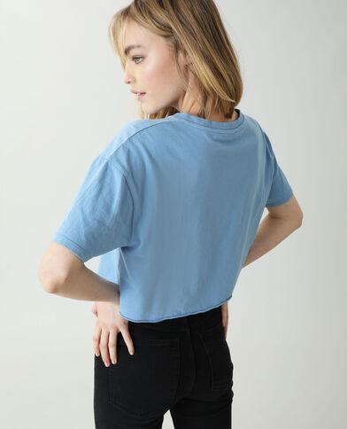 T-shirt cropped blu chiaro