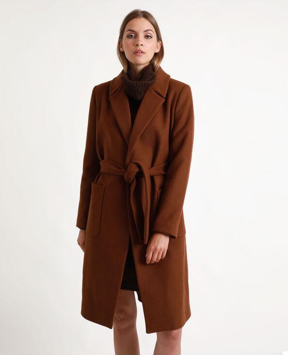Cappotto in lana marrone