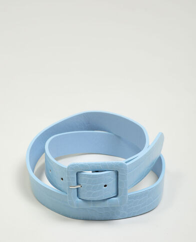 Cintura in similpelle effetto rettile blu - Pimkie