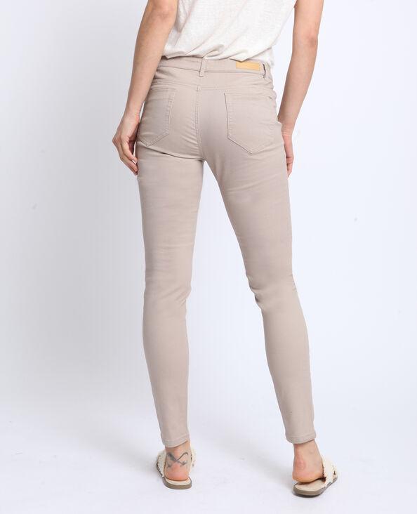 Pantalone push up mid waist bianco