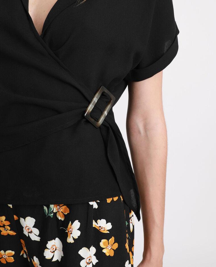 Camicia incrociata nero