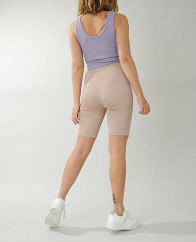 Pantaloncini da ciclismo beige