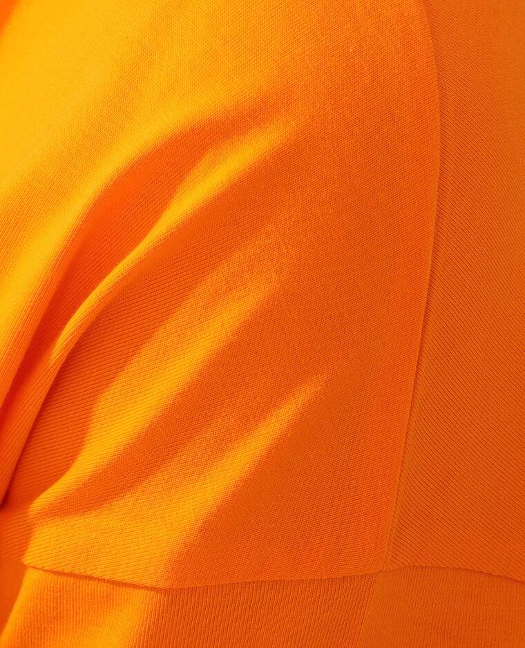 T-shirt basic oversize arancio