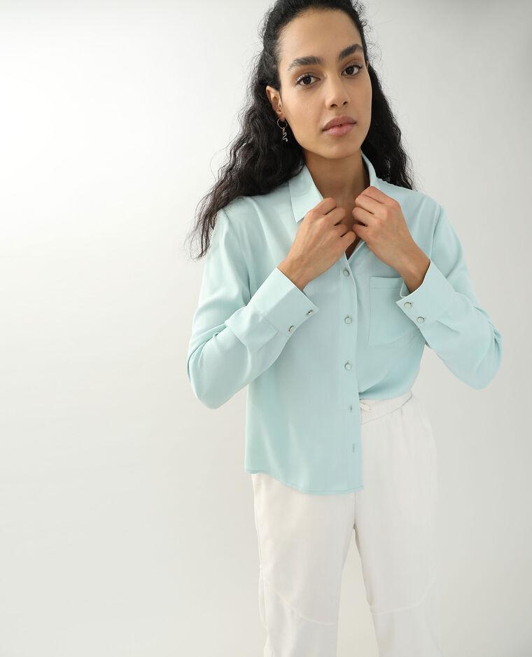 Camicia morbida blu cielo