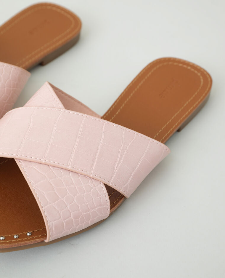 Sabot effetto coccodrillo rosa - Pimkie