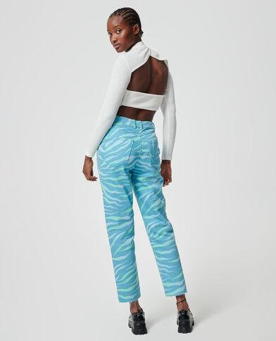Jeans zebrato verde - Pimkie