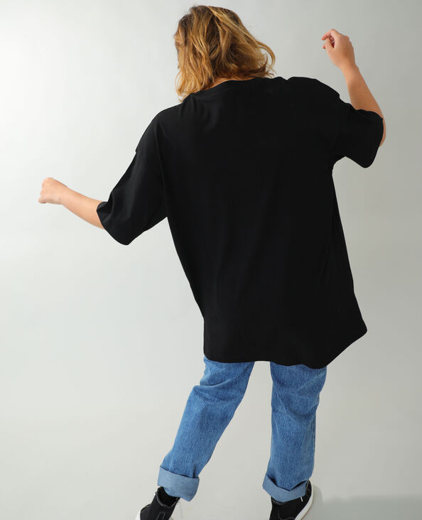 T-shirt basic oversize nero - Pimkie