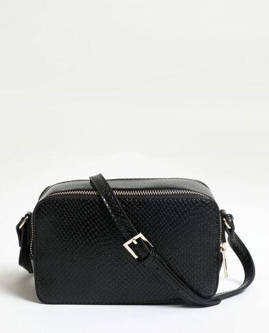 Piccola borsa effetto pitone nero