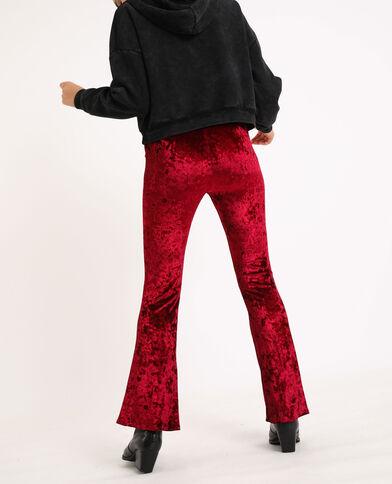 Pantalone in velluto Granata