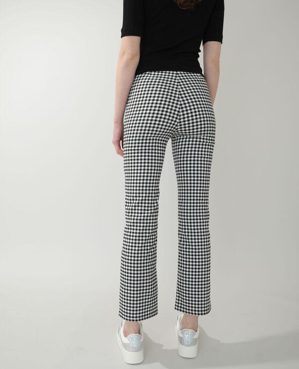 Pantalone flare Vichy nero - Pimkie