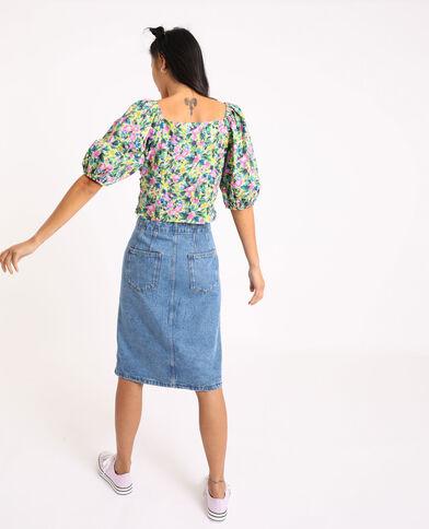Gonna midi in jeans blu