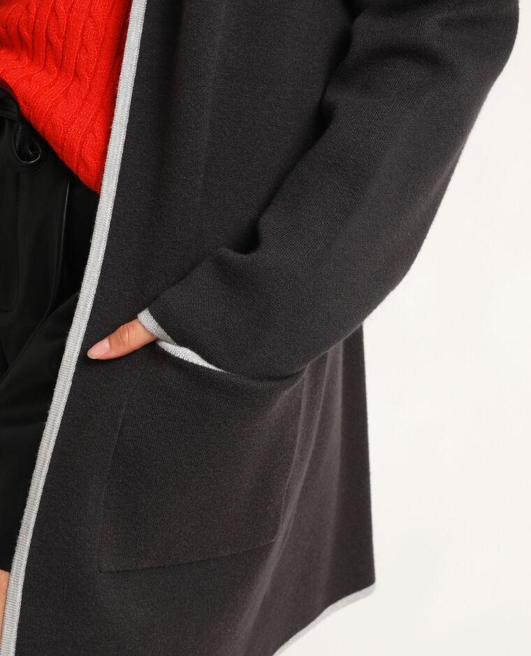 Cardigan caldo grigio