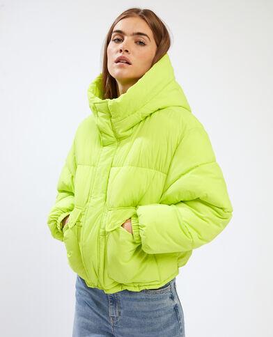 Piumino con cappuccio verde - Pimkie
