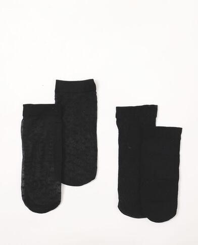 Lotto da 2 paia di calzini in voile nero