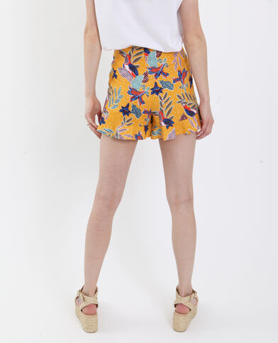 Short stampato giallo