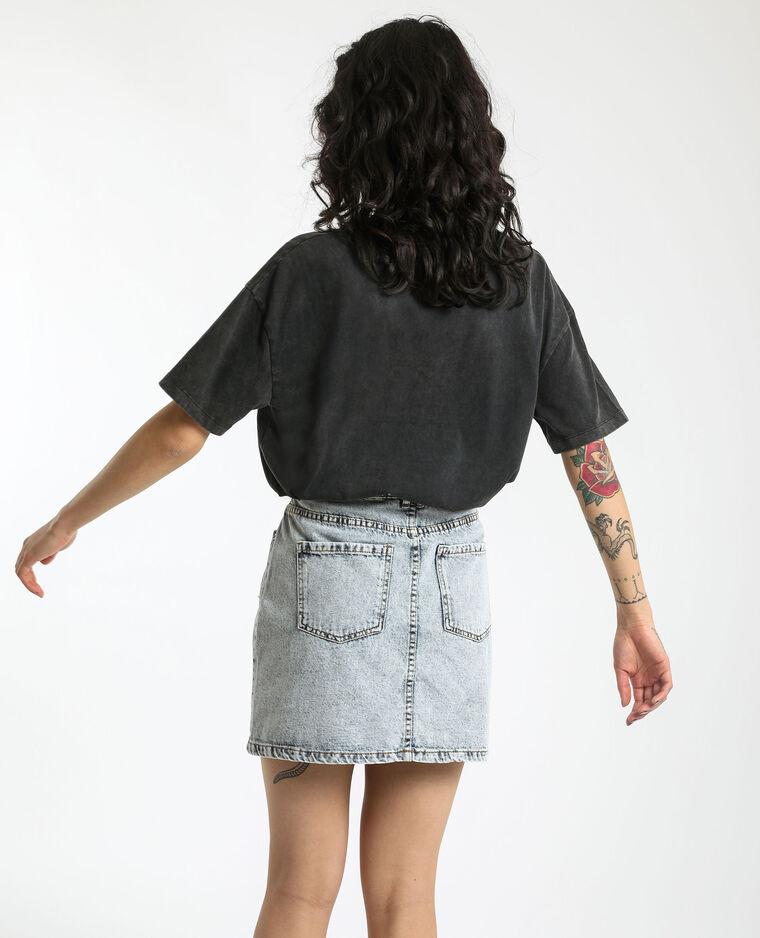 T-shirt grafica grigio