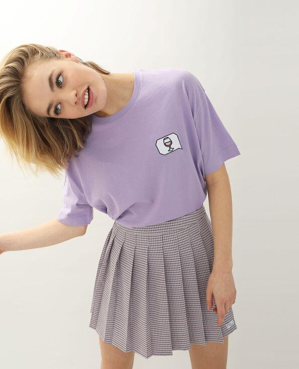 T-shirt ricamata viola - Pimkie
