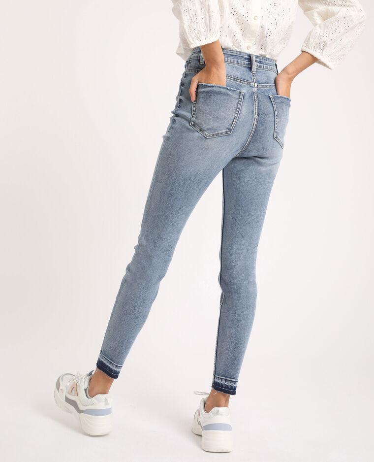 Jeans skinny high waist délavé blu delavato