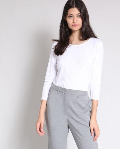 T-shirt aperta dietro bianco