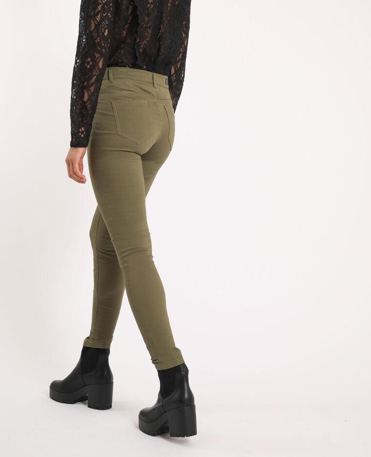 Pantalone skinny push up kaki