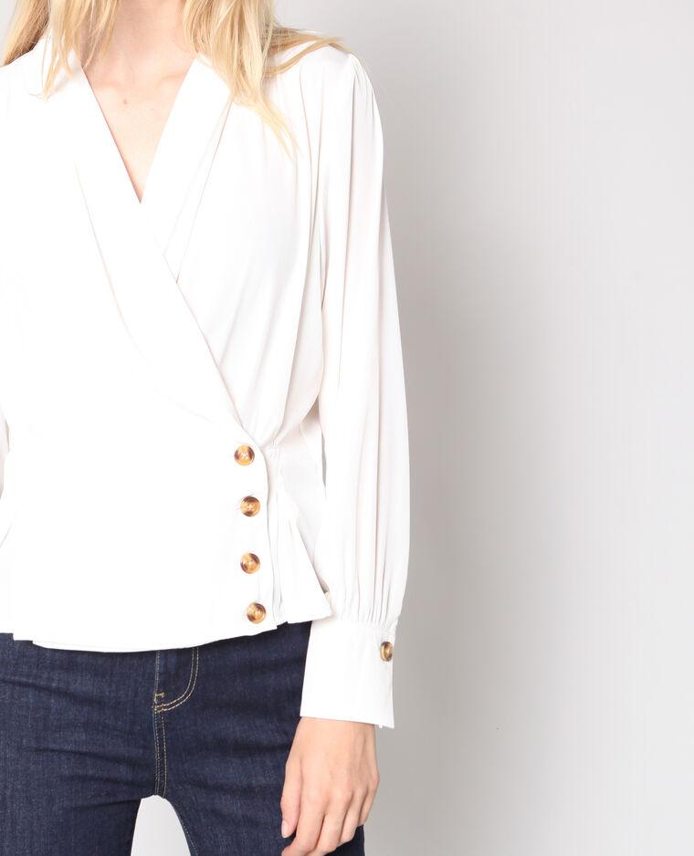 Blusa incrociata bianco sporco