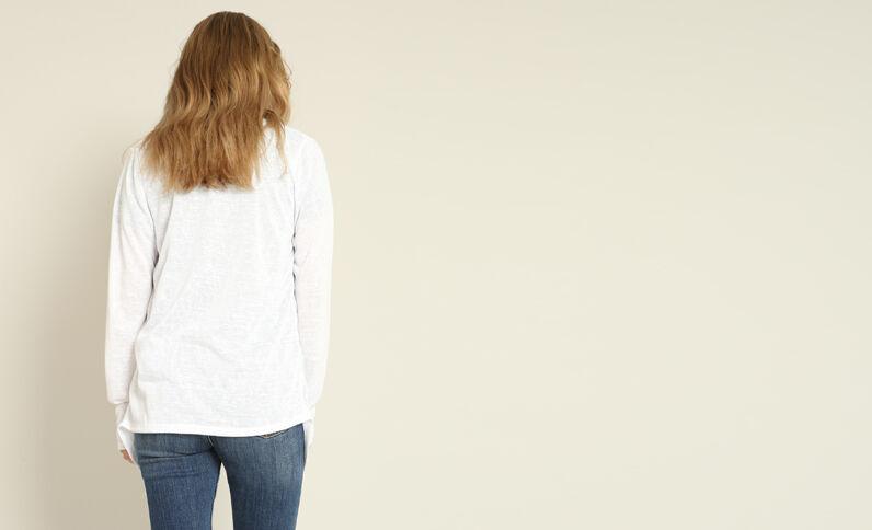 Cardigan sottile bianco sporco