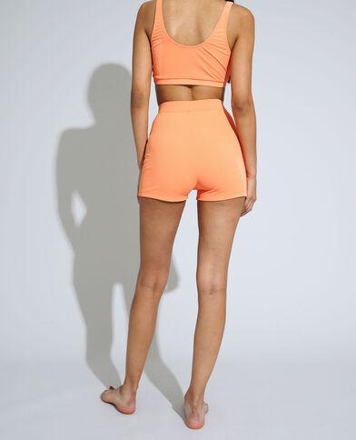 Shorty di costume da bagno a coste arancio - Pimkie