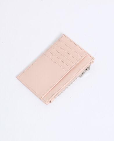 Portacarte in finta pelle rosa