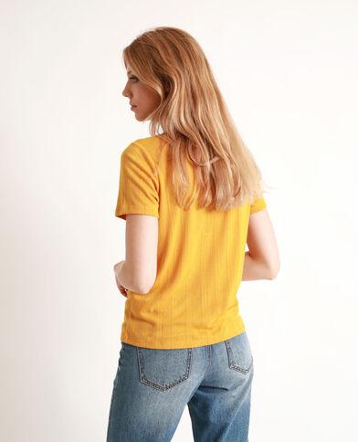 T-shirt maniche corte giallo