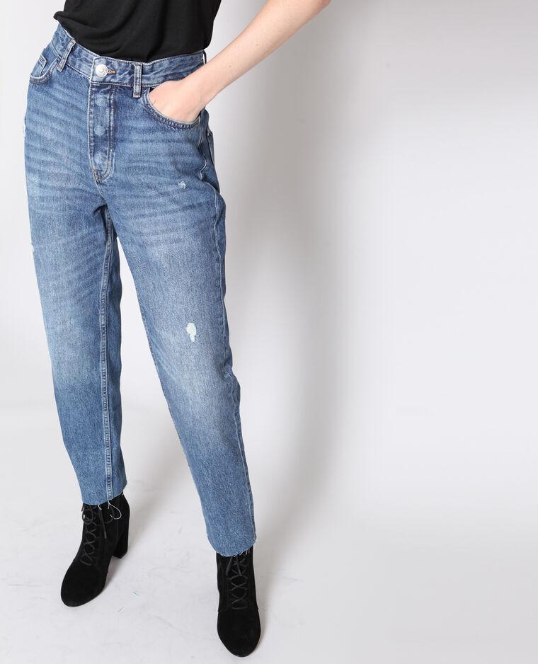 Jeans dritto a vita alta blu grezzo - Pimkie