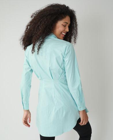 Camicia lunga attillata blu cielo - Pimkie