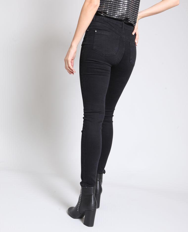 Jeans skinny mid waist nero