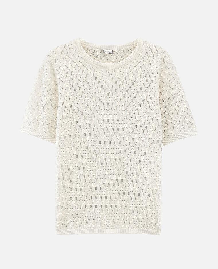 T-shirt traforata bianco