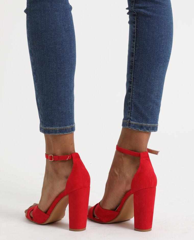 Sandali con tacchi alti mattone