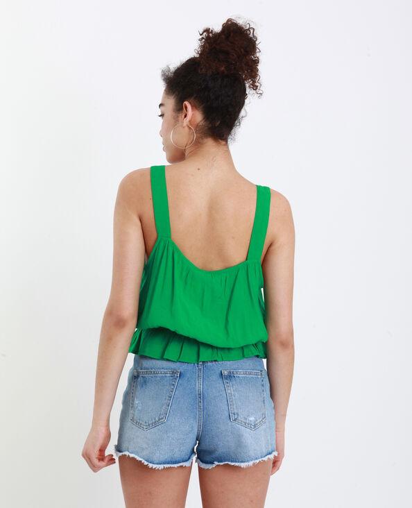 Top con spalline larghe verde