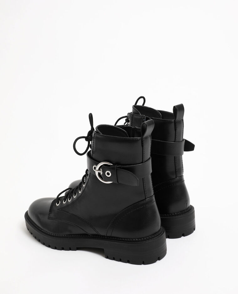 Boots con lacci nero