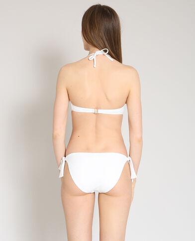 Pezzo sotto di bikini tinta unita écru
