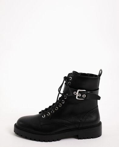 Boots in finta pelle nero
